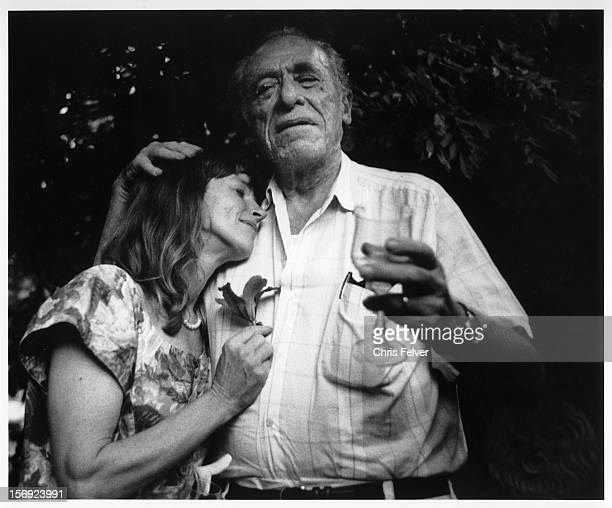 Portrait of writer Charles Bukowski and his wife Linda 1996
