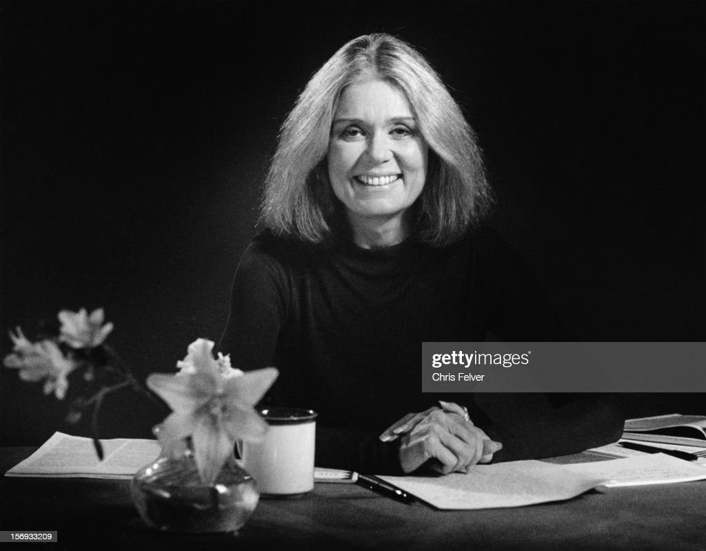 Portrait of writer <a gi-track='captionPersonalityLinkClicked' href=/galleries/search?phrase=Gloria+Steinem&family=editorial&specificpeople=213078 ng-click='$event.stopPropagation()'>Gloria Steinem</a>, New York, New York, 1992.