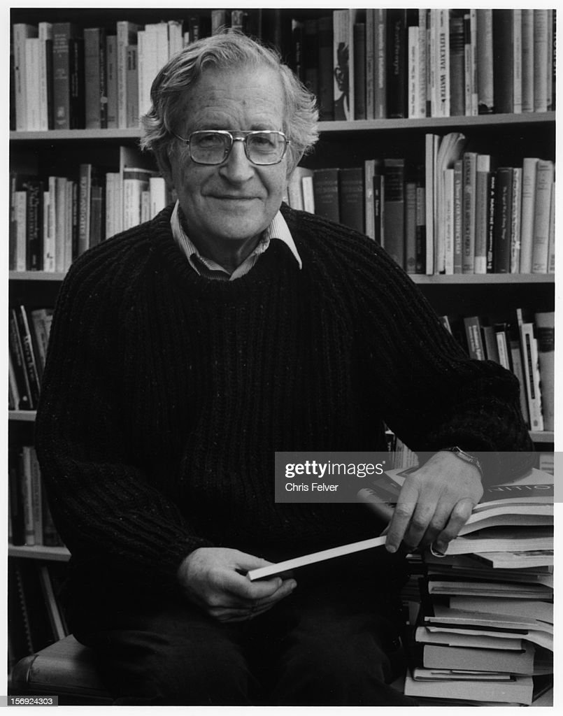 Portrait of writer <a gi-track='captionPersonalityLinkClicked' href=/galleries/search?phrase=Noam+Chomsky&family=editorial&specificpeople=635340 ng-click='$event.stopPropagation()'>Noam Chomsky</a>, Boston, Massachusetts, 2000.