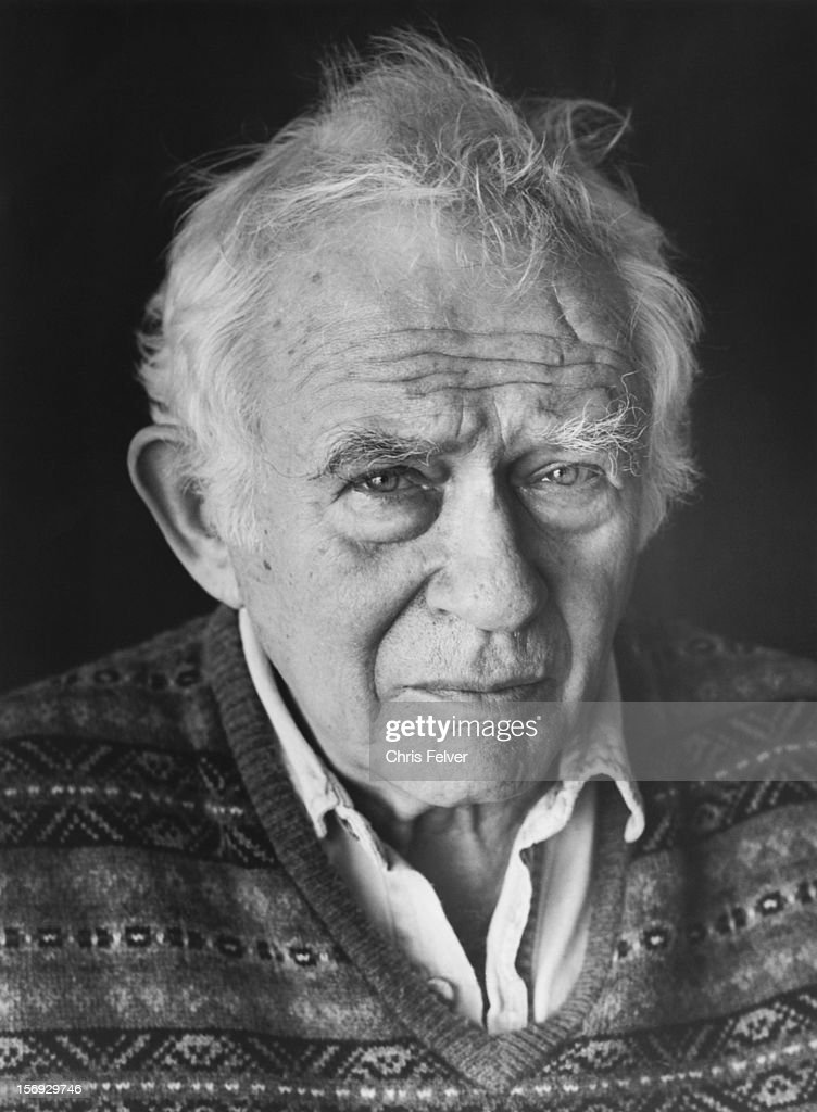 Portrait of writer <a gi-track='captionPersonalityLinkClicked' href=/galleries/search?phrase=Norman+Mailer&family=editorial&specificpeople=206831 ng-click='$event.stopPropagation()'>Norman Mailer</a>, Provincetown, Massachusetts, 2000.