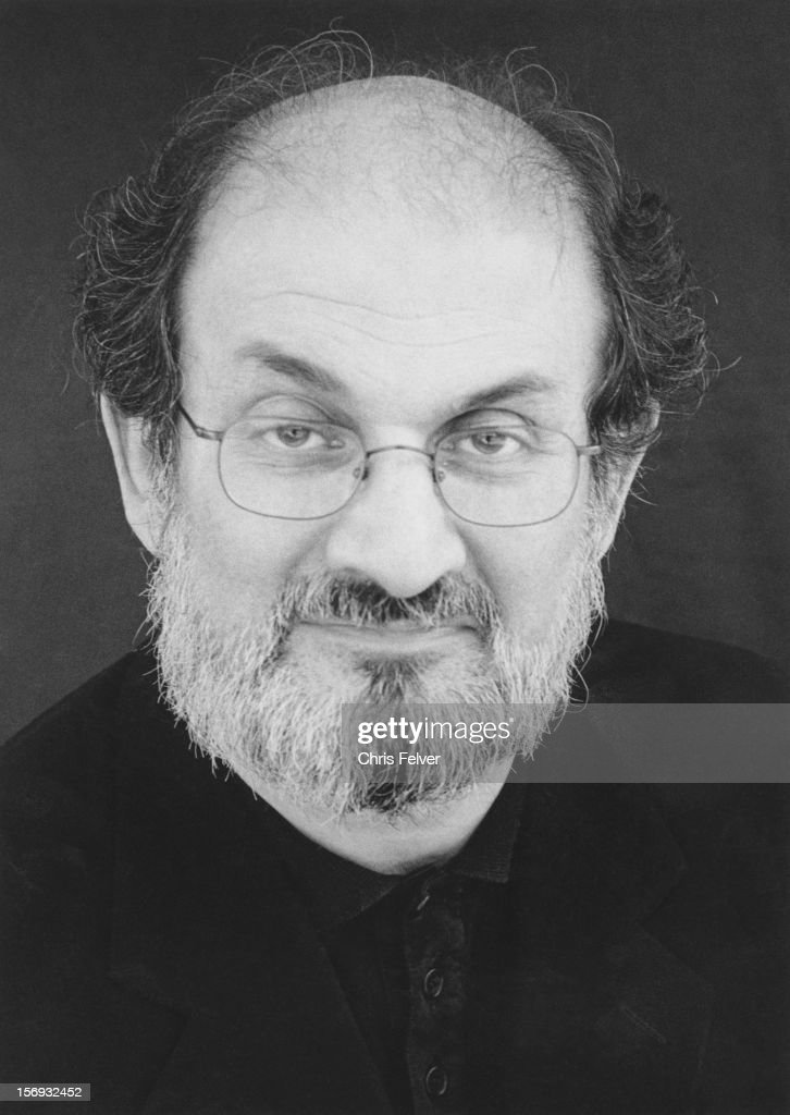 Portrait of writer Salman Rushdie San Francisco California 1999