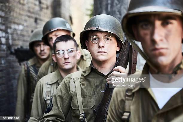 ll WW Ritratto di soldati.