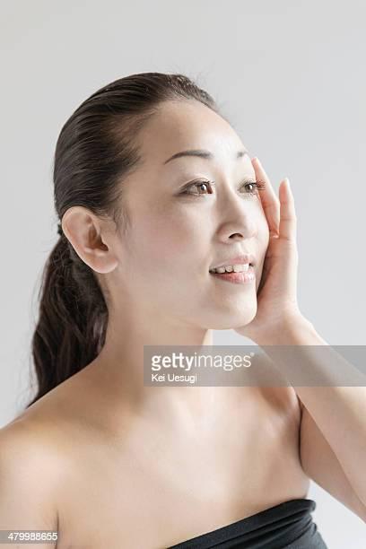 A portrait of yoga woman.