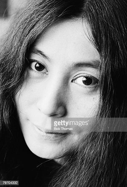 Portrait of Yoko Ono taken at her home in England December 1968