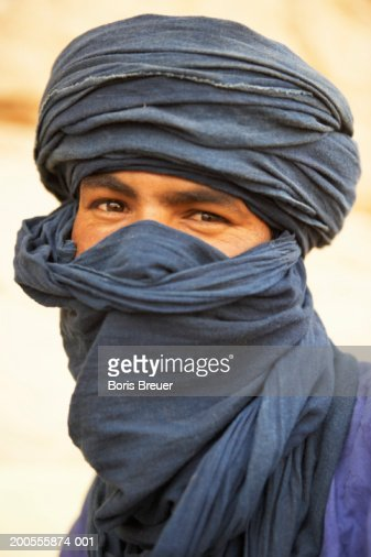 Portrait of young Algerian man in turban