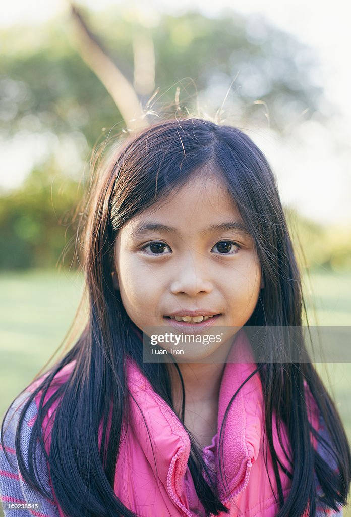 Portrait of young asian girl : Stock Photo