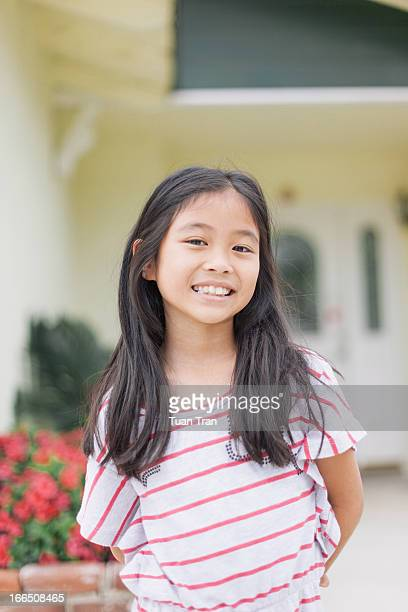 Portrait of young asian girl smiling