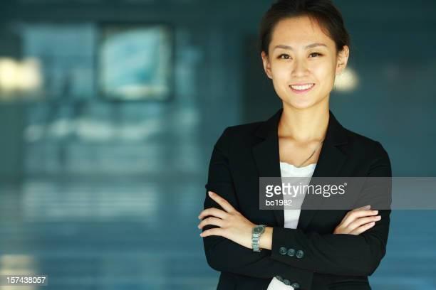 Porträt von jungen asiatischen Büro lady