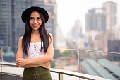 Portrait Of Young Happy Asian Woman From Thailand Smiling