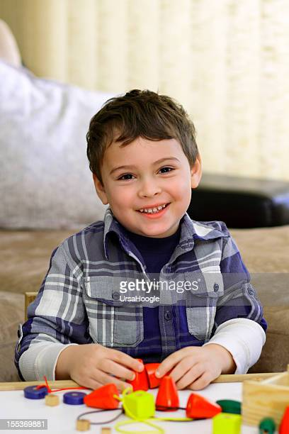 Portrait of young boy with autism