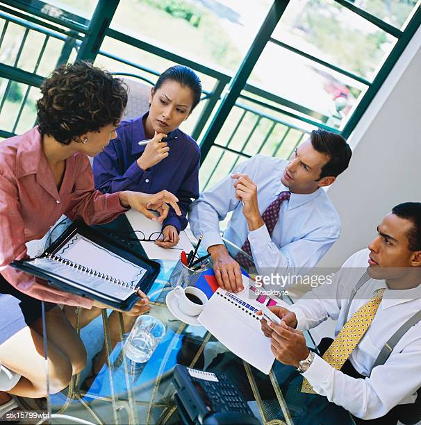 portrait of young business executives in a meeting