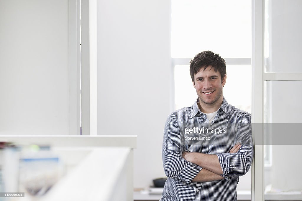 Portrait of young business man : Stock Photo