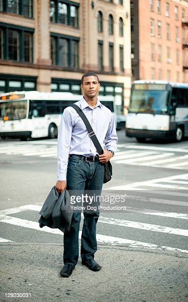Portrait of Young Businessman in NYC