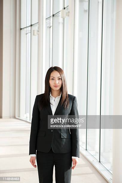 Portrait of young businesswoman, Tokyo Prefecture, Honshu, Japan
