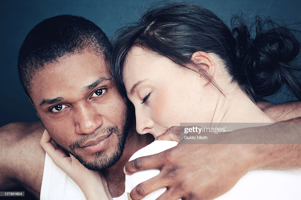 Portrait of young couple in thoughtful mood. : Stock Photo