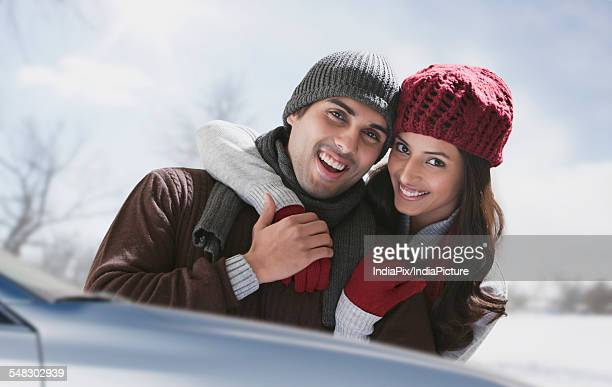 Portrait of young couple spending quality time together