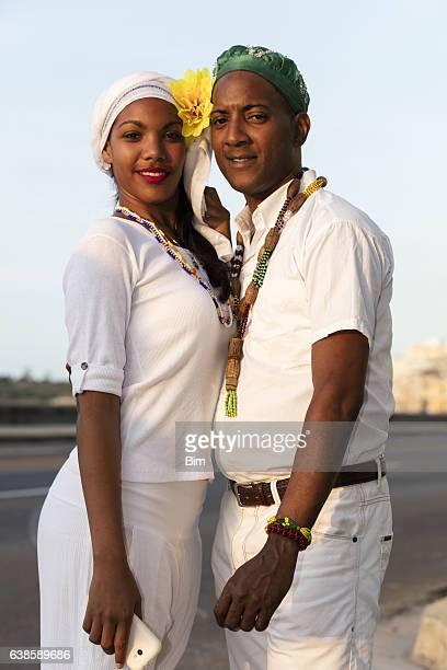 Porträt von jungen kubanische Paar