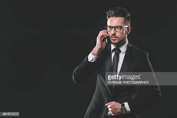 Portrait de jeune homme à la mode