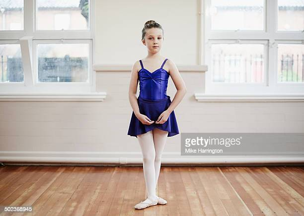 Portrait of young female ballet dancer