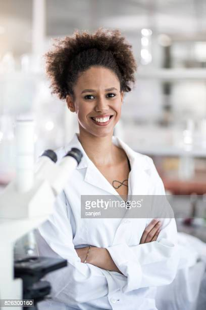 Portrait of Young Female Scientist