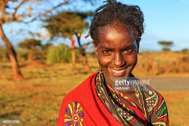 Portrait of young girl from Borana, Ethiopia, Africa