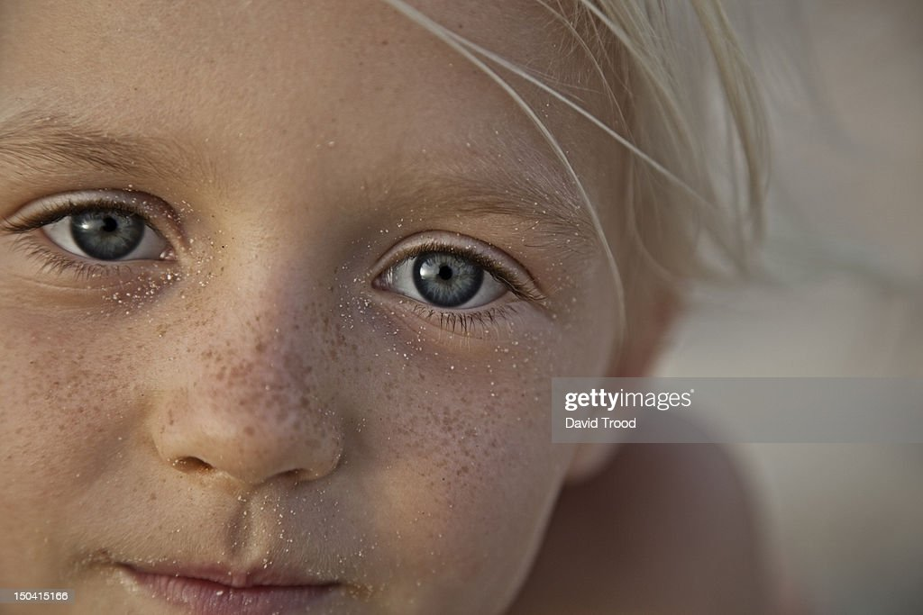 portrait of young girl on the beach in Dubai