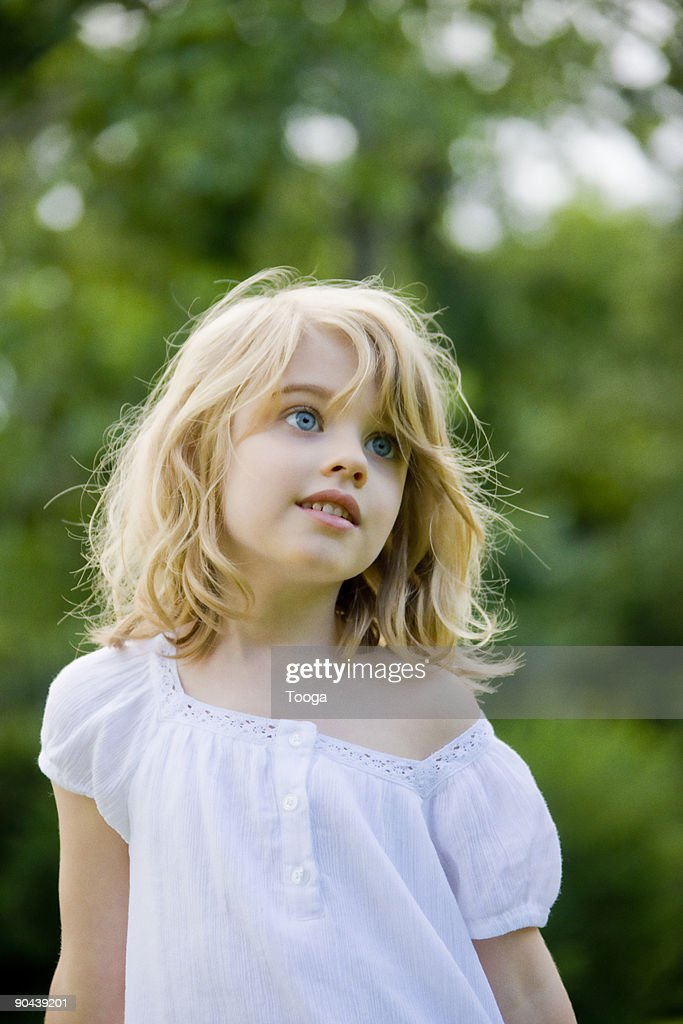 Portrait of young girl : Stock Photo