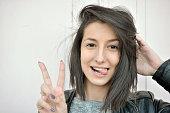 Girls, Human Face, Smiling, Brown Hair, Human Mouth