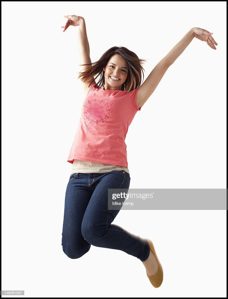 Portrait of young happy woman : Stock Photo