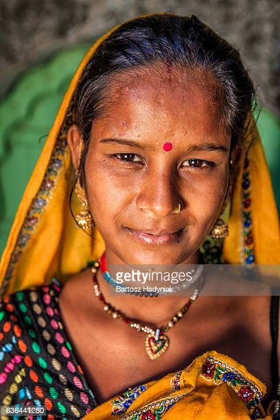Portrait of young Indian woman, Amber, India