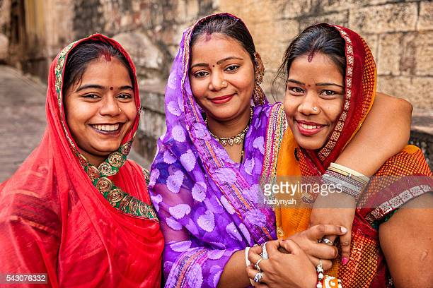 Portrait of young Indian women Jodhpur, India