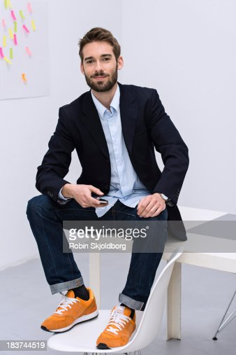 Portrait of young male in design studio