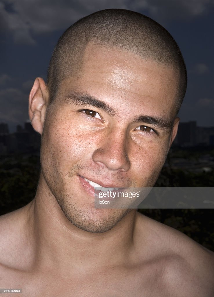 Portrait of young man smiling : Stock Photo