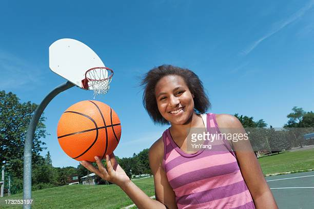 Portrait of Young Teen Basketball Player Hz