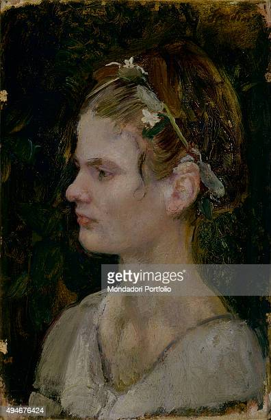 Portrait of Young Woman by Armando Spadini 20th Century oil on canvas 45 x 30 cm Italy Rome National Gallery of Modern and Contemporary ArtGNAM Whole...