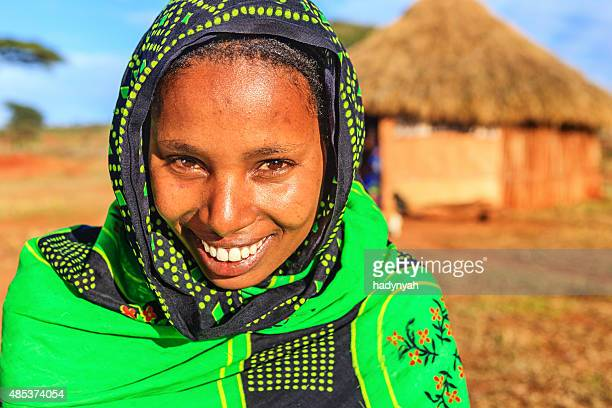 Portrait of young woman from Borana, Ethiopia, Africa