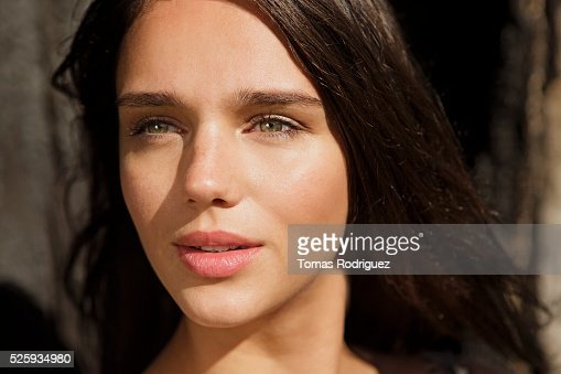 Portrait of young woman : Stock Photo