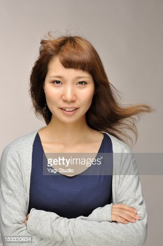 Portrait of Young Woman , smiling : Stock Photo