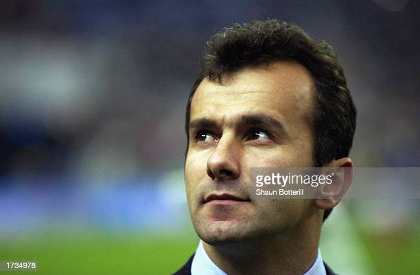 A portrait of Yugoslavia coach Dejan Savicevic during the international friendly match between France and Yugoslavia held on November 20 2002 at...