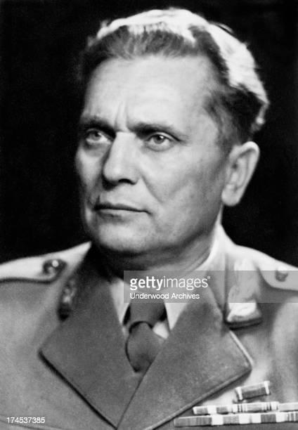 A portrait of Yugoslavia President Marshal Tito Yugoslavia August 16 1946