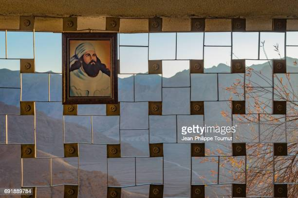 Portrait of Zoroaster in the Zoroastrian sacred shrine of Chak Chak, Yazd Province, Central Iran