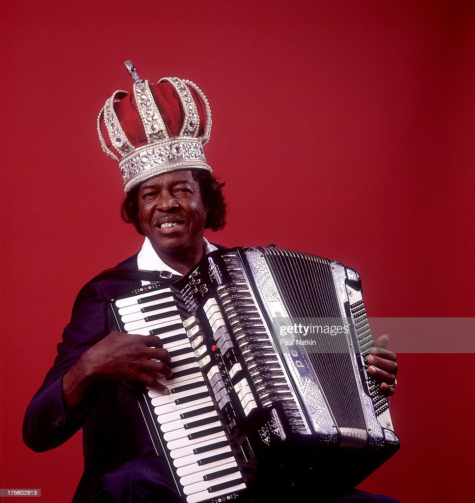Portrait of zydeco musician Clifton Chenier at Fitzgerald's, Berwyn, Illinois, July 30, 1984.