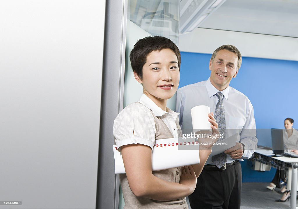 A portrait outside a training room : Stock Photo