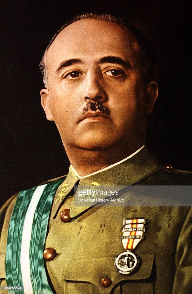 Portrait photograph of <a gi-track='captionPersonalityLinkClicked' href=/galleries/search?phrase=Francisco+Franco&family=editorial&specificpeople=190209 ng-click='$event.stopPropagation()'>Francisco Franco</a>, Spanish military leader and statesman who became the dictator of Spain. He ruled from 1936 until his death in 1975. He was born in 1892.