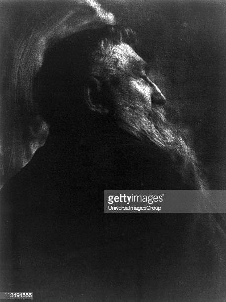 Portrait photograph of French sculptor Auguste Rodin by Gertrude Kasebier