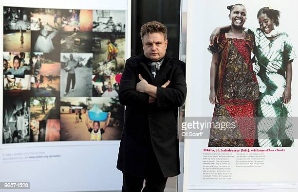 Portrait photographer Rankin poses outside the National Theatre with an exhibition of images he took on a recent visit to the Democratic Republic of...