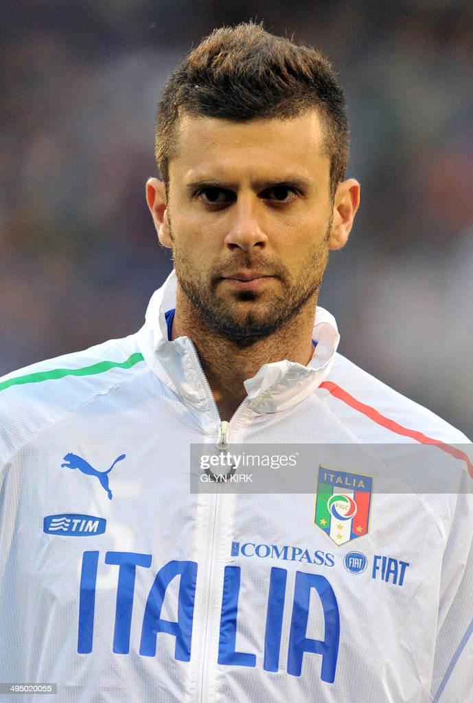 A portrait picture of Italy's midfielder Thiago Motta before the international friendly football match between Italy and Republic of Ireland at Craven Cottage in London on May 31, 2014.