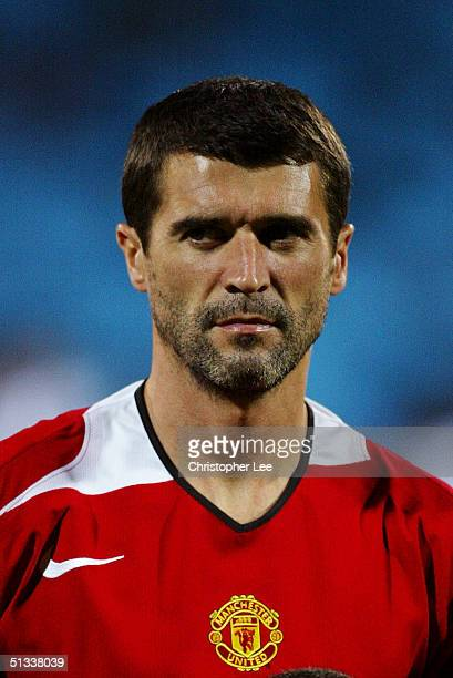 A portrait Roy Keane of Manchester United prior to the the UEFA Champions League Group D match between Olympique Lyonnais and Manchester United at...
