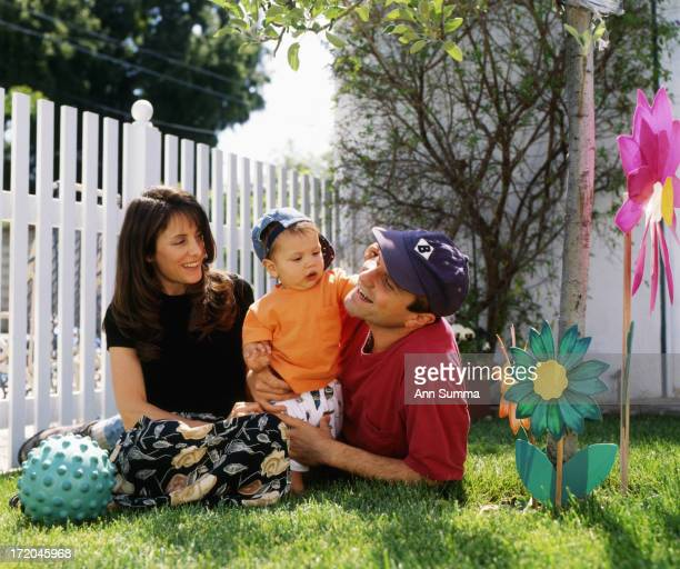 Portrait session with actor Enrico Colantoni and his family wife Nancy and daughter Quintin at their home in Los Angeles