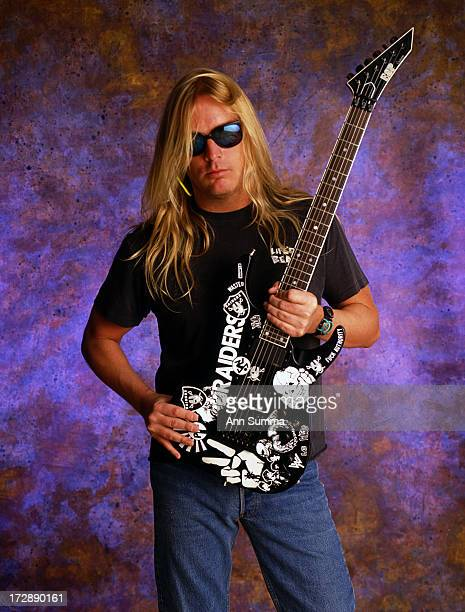 Portrait session with Jeff Hanneman founding member and lead guitarist for thrash metal band Slayer